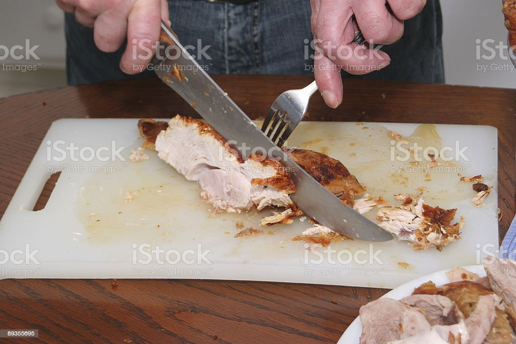 Carving Turkey Breast royalty-free stock photo