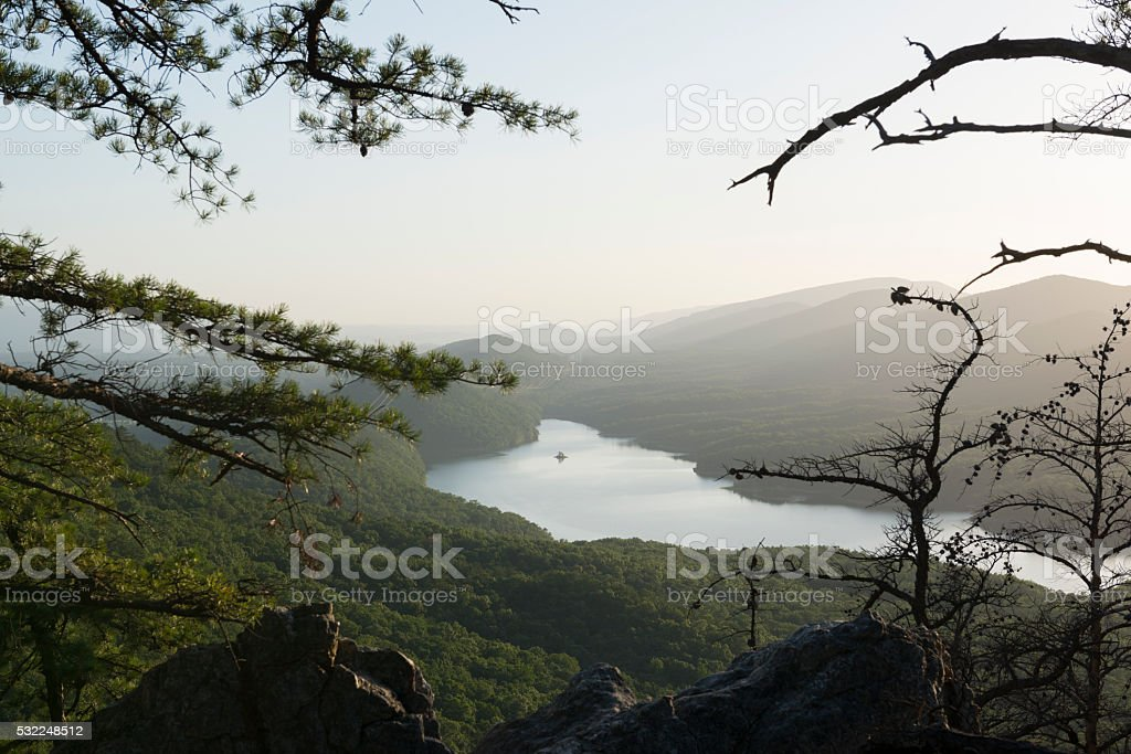 Carvins Cove Reservoir near Roanoke, Virginia stock photo