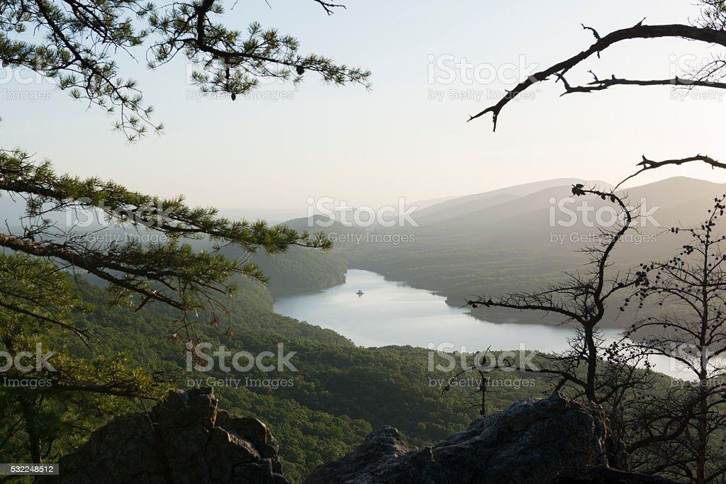 Carvins Cove Reservoir near Roanoke, Virginia stock photo