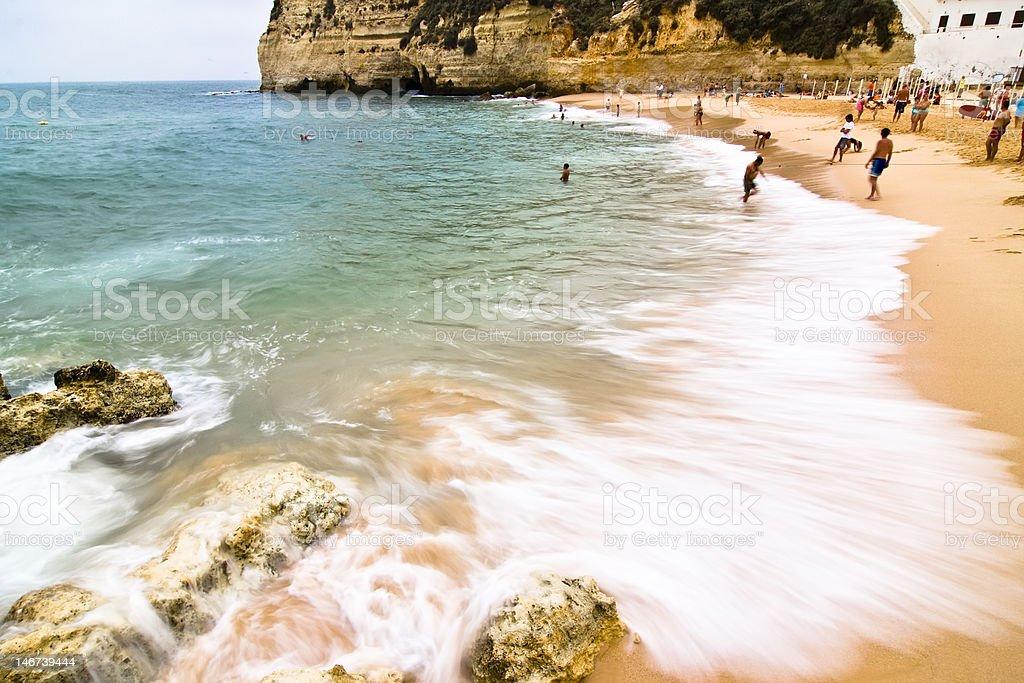 Carvoeiro beach royalty-free stock photo