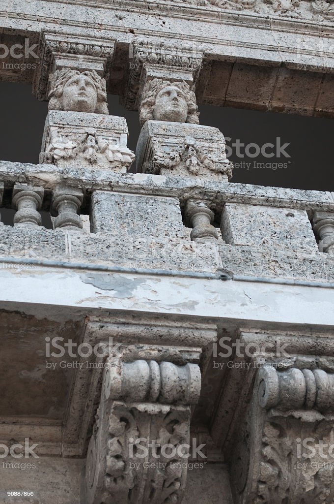 Caryatid close up Havana, Cuba stock photo