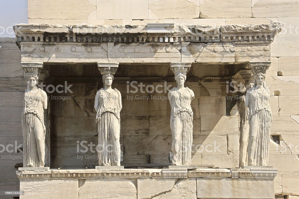 Caryatid in Acropolis, Athens royalty-free stock photo