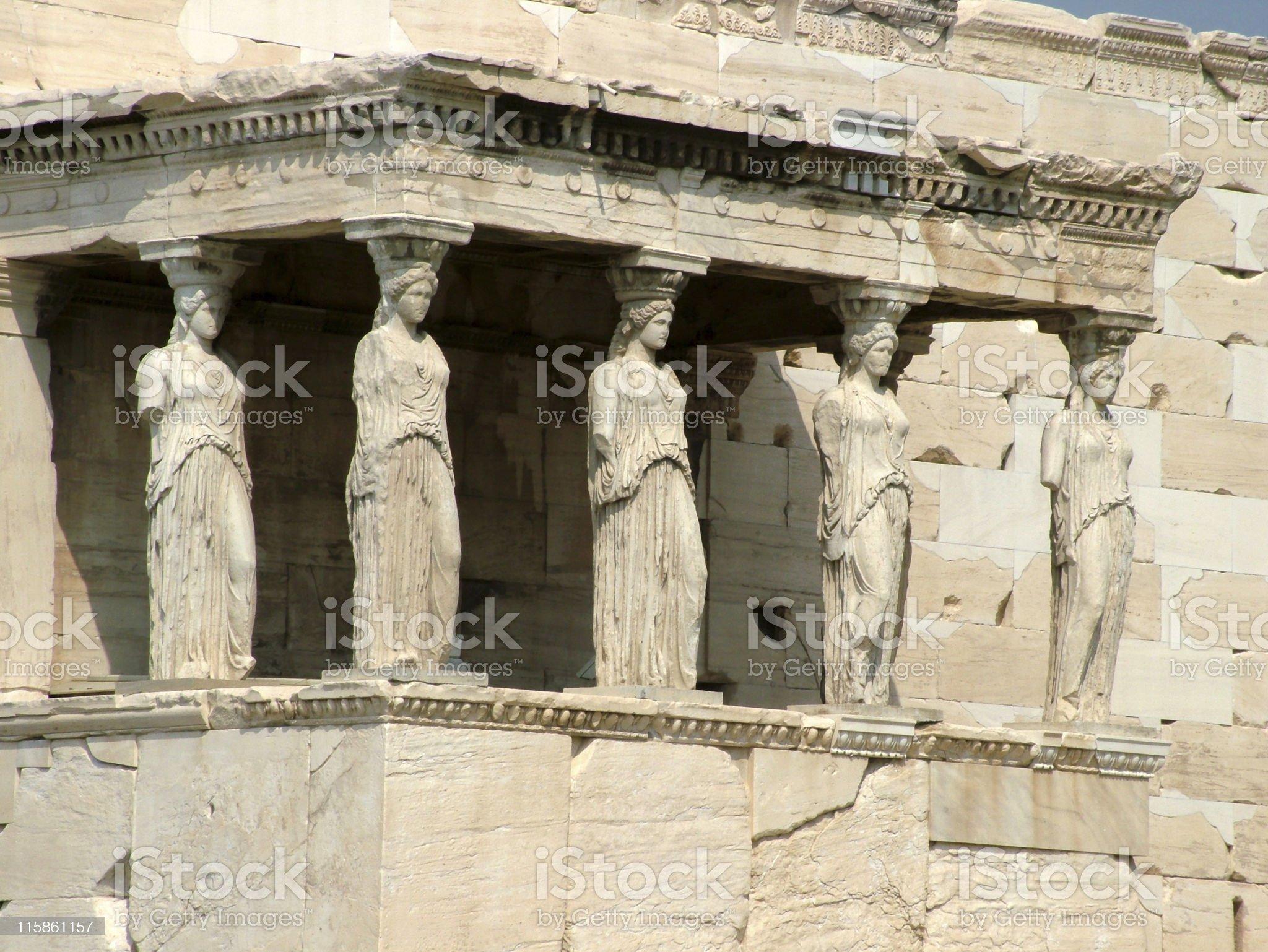 Caryatides royalty-free stock photo