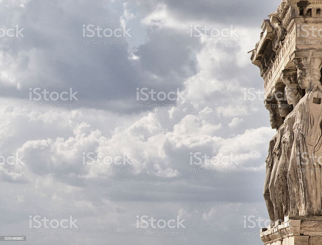 Caryatids at the Erechtheion, Acropolis stock photo
