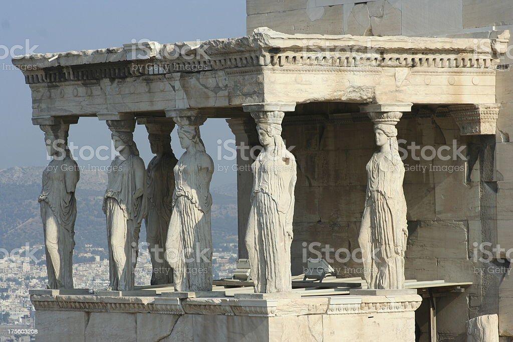 caryatids stock photo