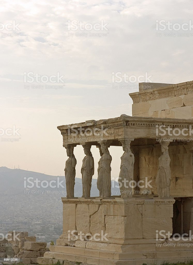 Caryatids royalty-free stock photo