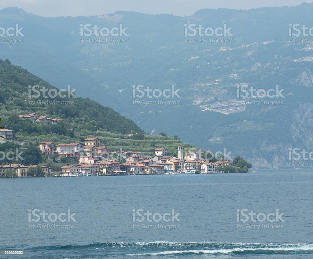 Carzano village Monte Isola Iseo Italy stock photo
