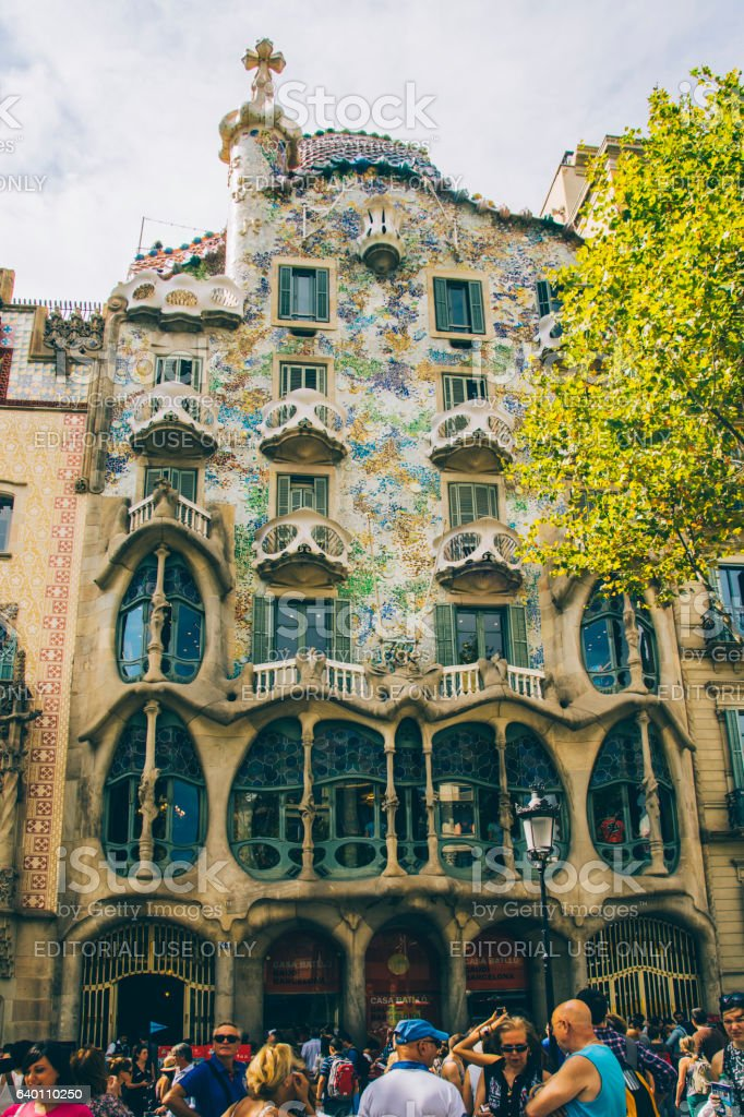 Casa Batlló, Barcelona stock photo