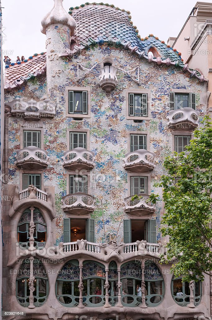 Casa Batlló in Barcelona by Spanish Catalan architect Antoni Gaudí stock photo