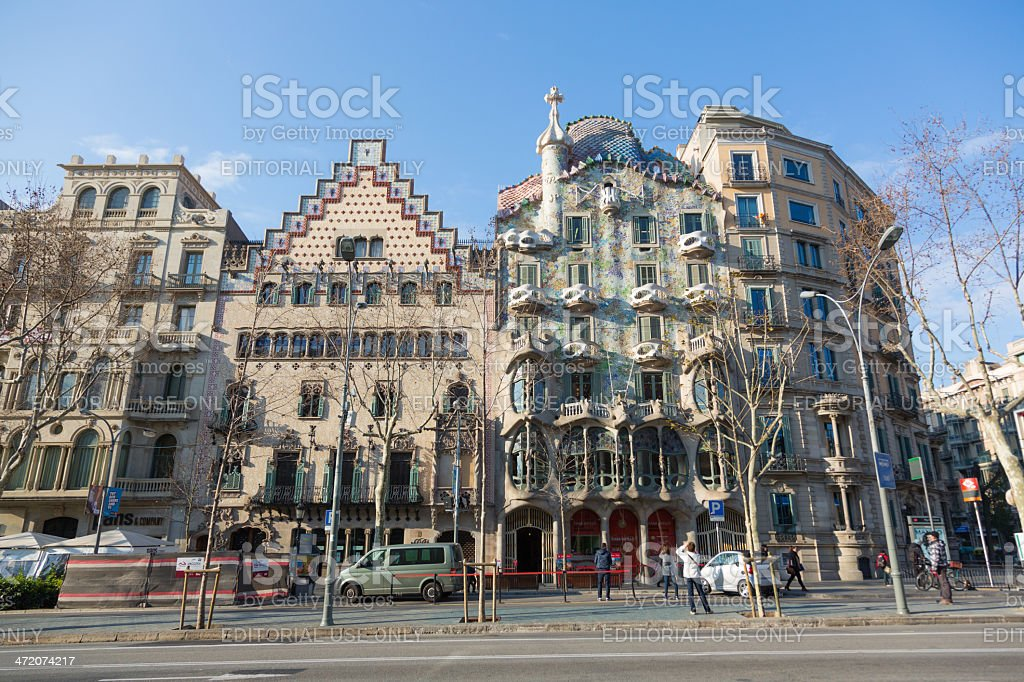 Casa Batll? in Barcelona, Spain stock photo