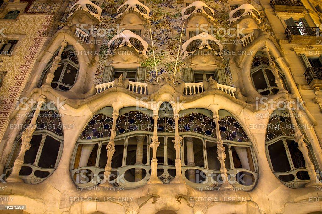 Casa Batlló stock photo
