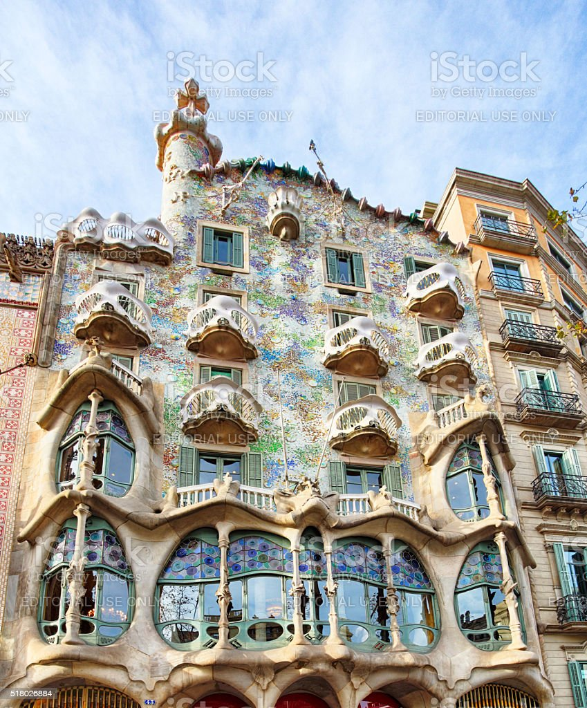 Casa Batllo and Ametller Facades stock photo