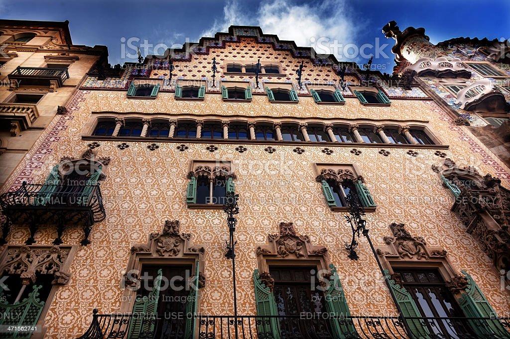 Casa Batllo Antoni Gaudi House Museum Barcelona Catalonia Spain royalty-free stock photo