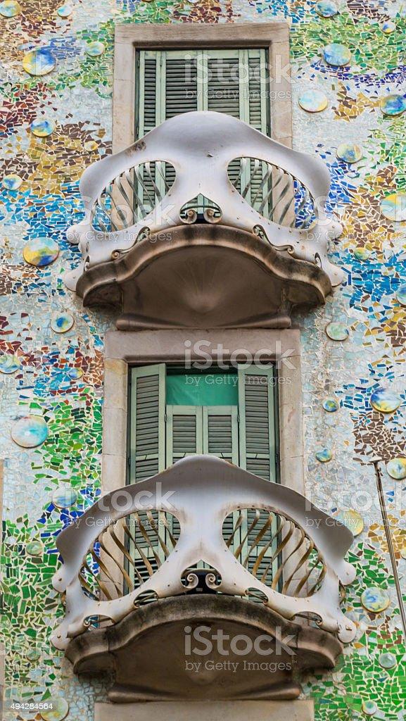 Casa Batllo, Barcelona stock photo