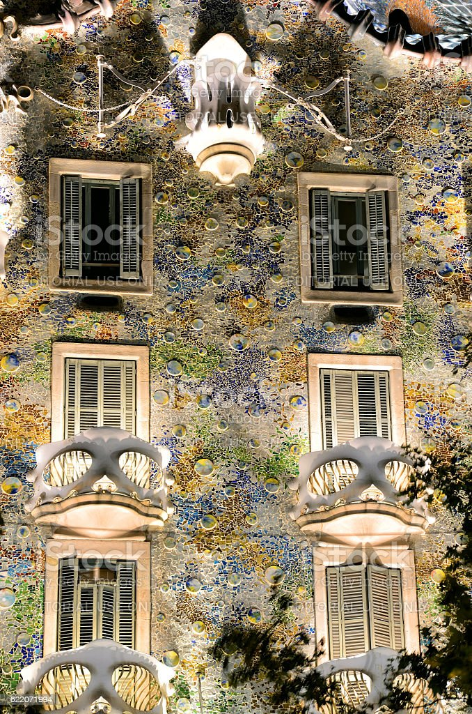 Casa Batllo, Barcelona stock photo