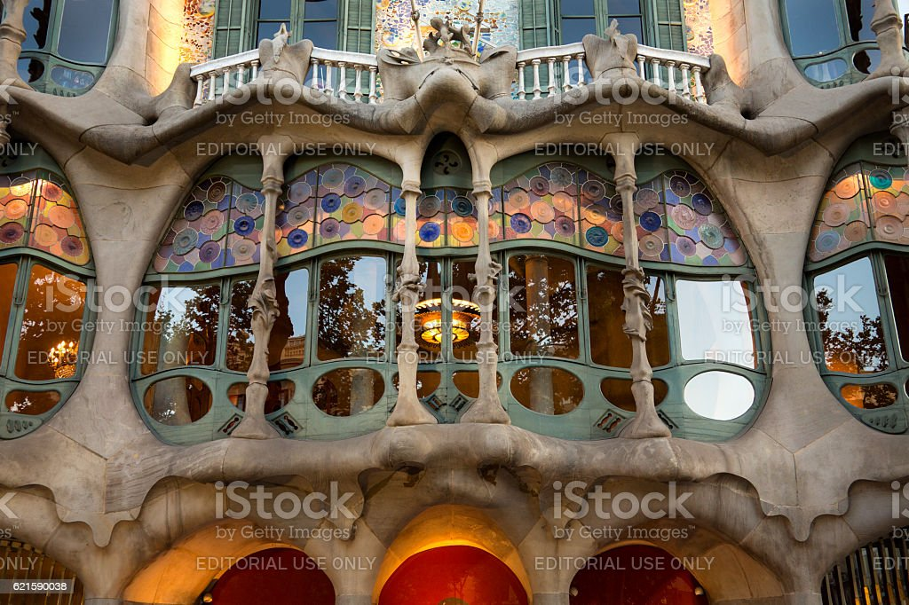 Casa Batllo - Barcelona - Spain stock photo