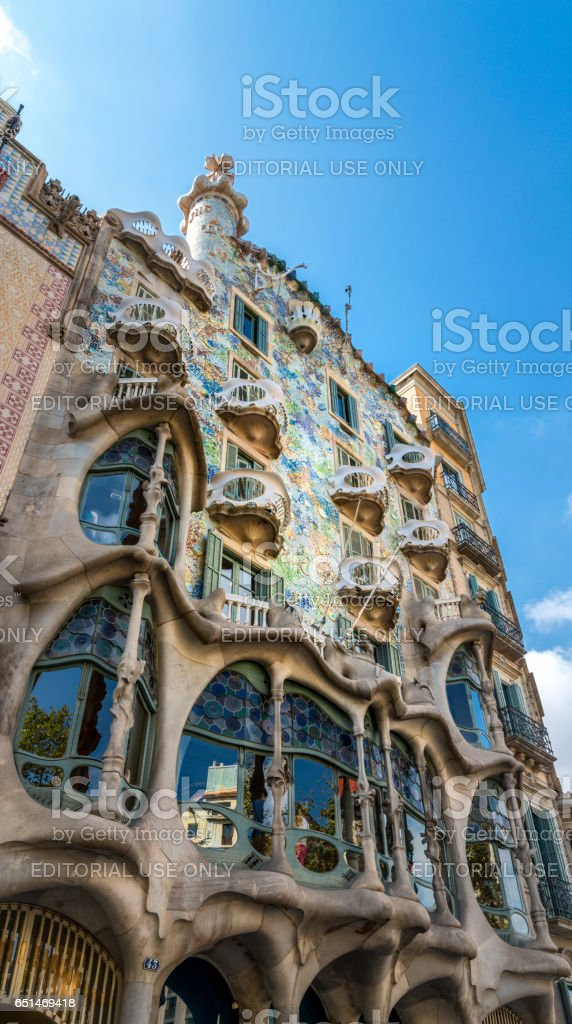 Casa Batllo, Barcelona, Spain stock photo