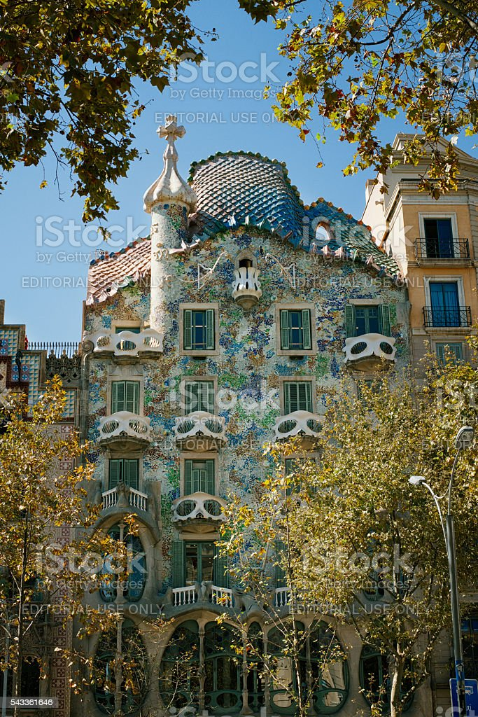 Casa Batllo Facade stock photo