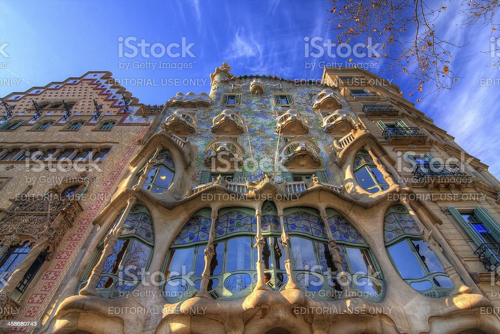 Casa Batllo in Barcelona, Spain. royalty-free stock photo