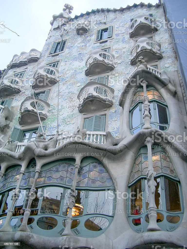 Casa Batllo, masterpiece of Antoni Gaudi, in Barcelona stock photo