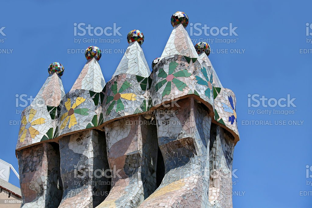 Casa Batllo on Barcelona, Spain stock photo