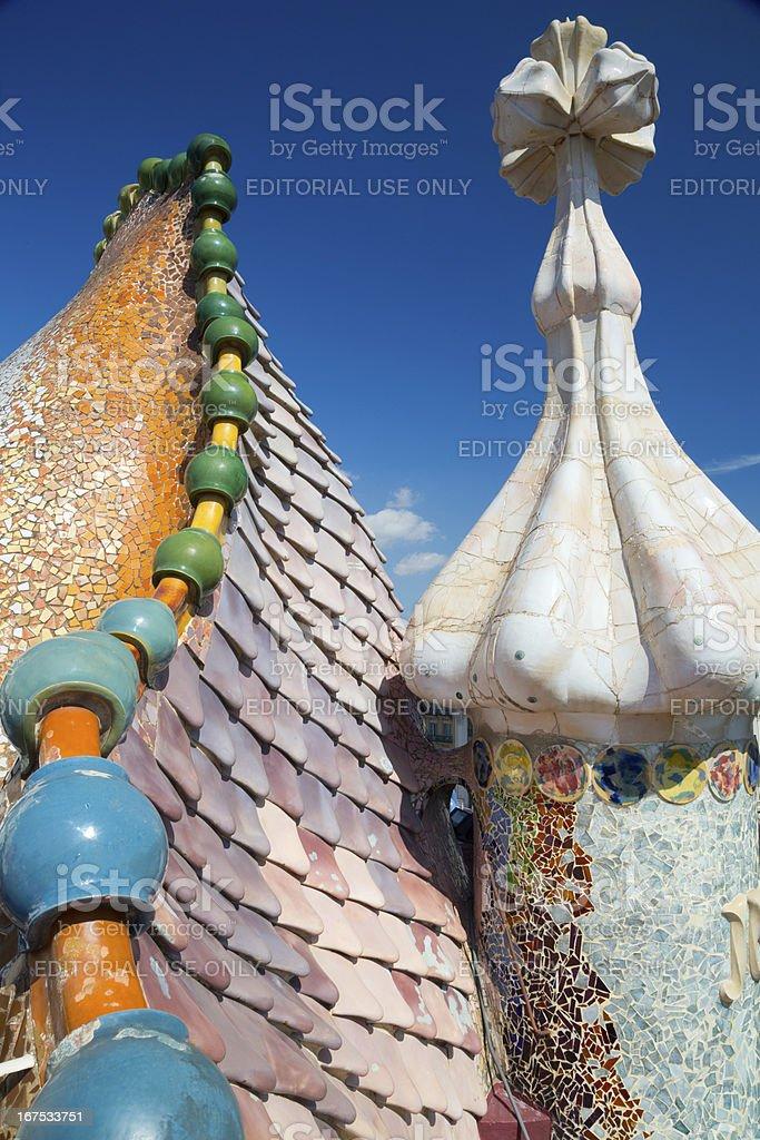 Casa Battlò by Gaudy in Barcelona Spain royalty-free stock photo
