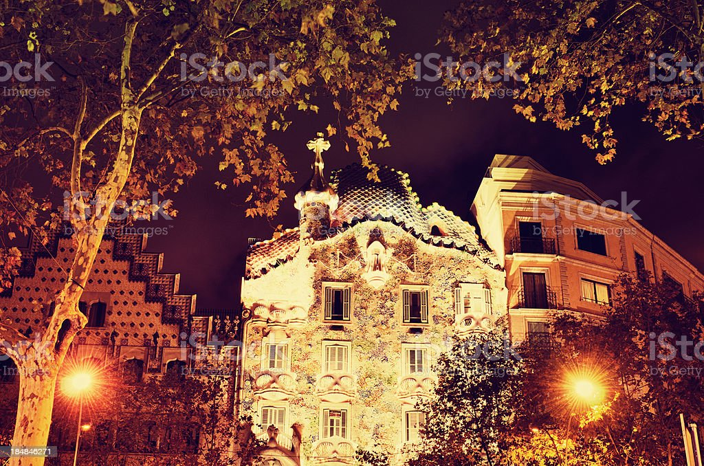 Casa Battl? made by Gaudi royalty-free stock photo