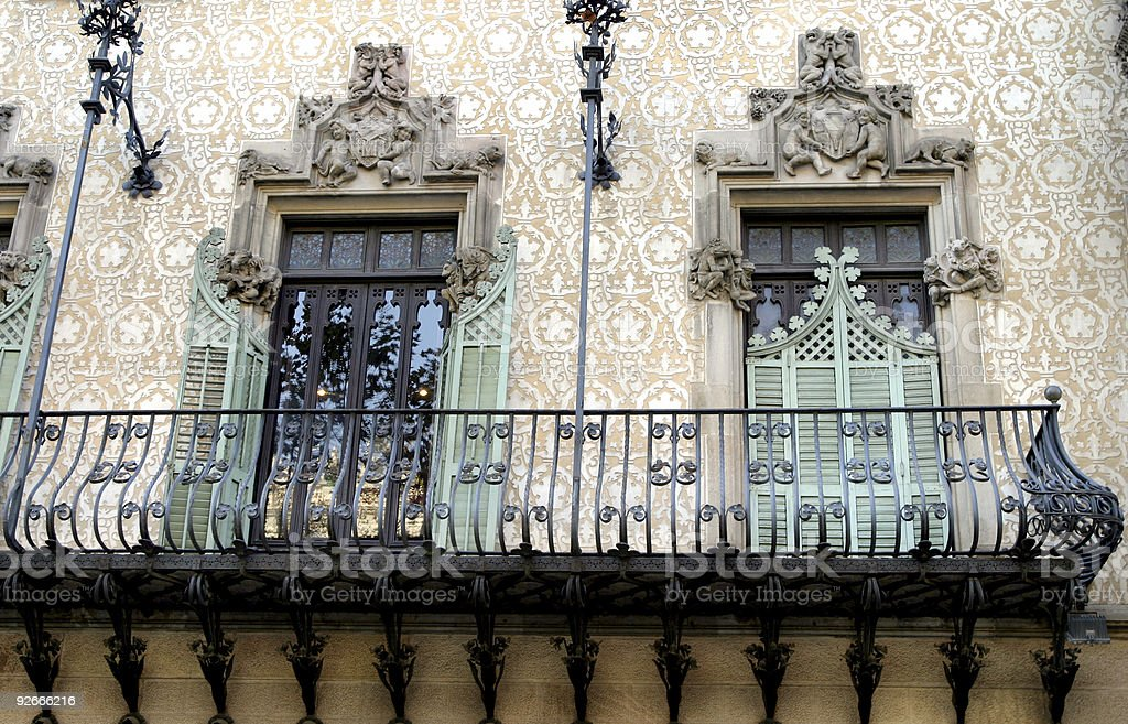 Casa Battlo by Gaudi Design Barcelona Spain royalty-free stock photo