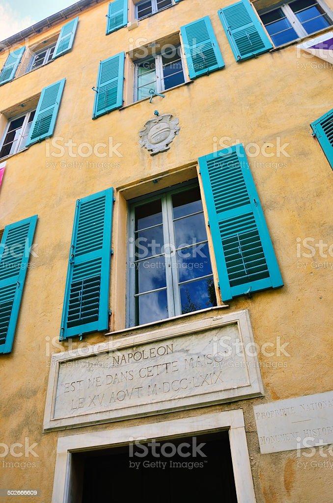 Casa Buonaparte, Ajaccio stock photo