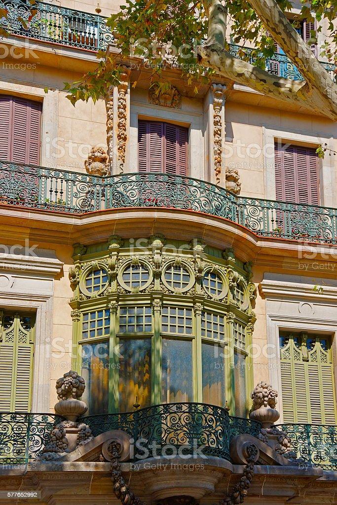 Casa Casarramona in Passeig de Gracia in Barcelona stock photo