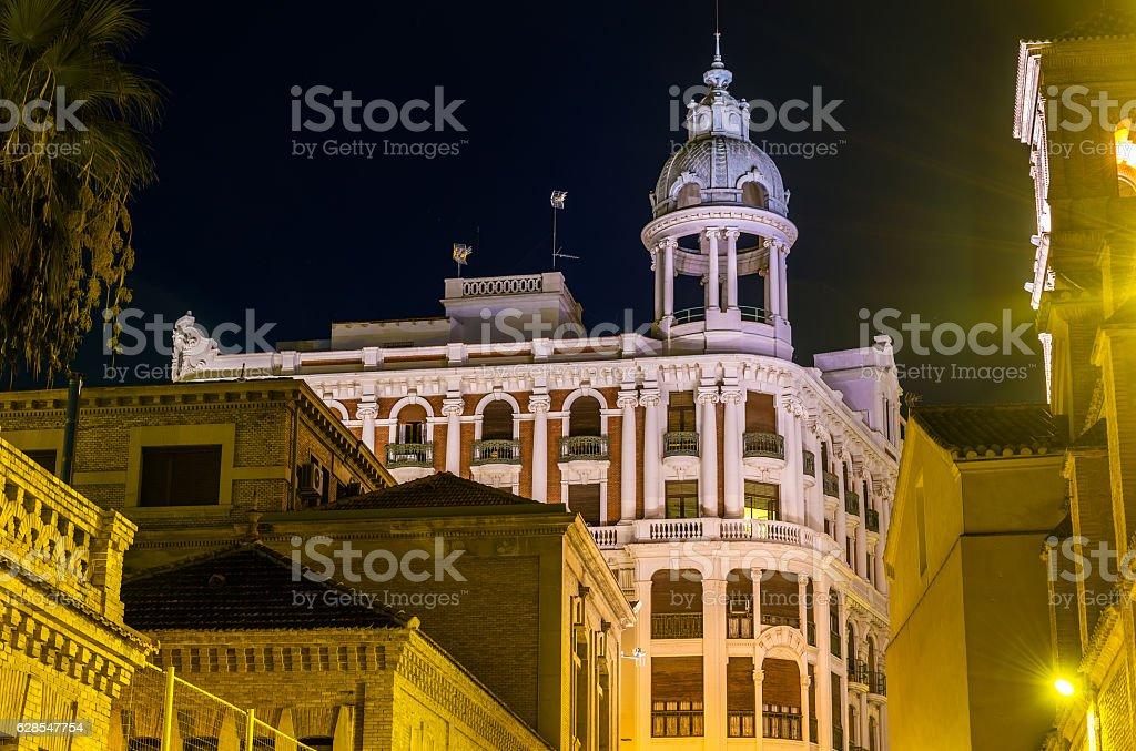 Casa Cerda, a historic building in Murcia, Spain. Built in stock photo
