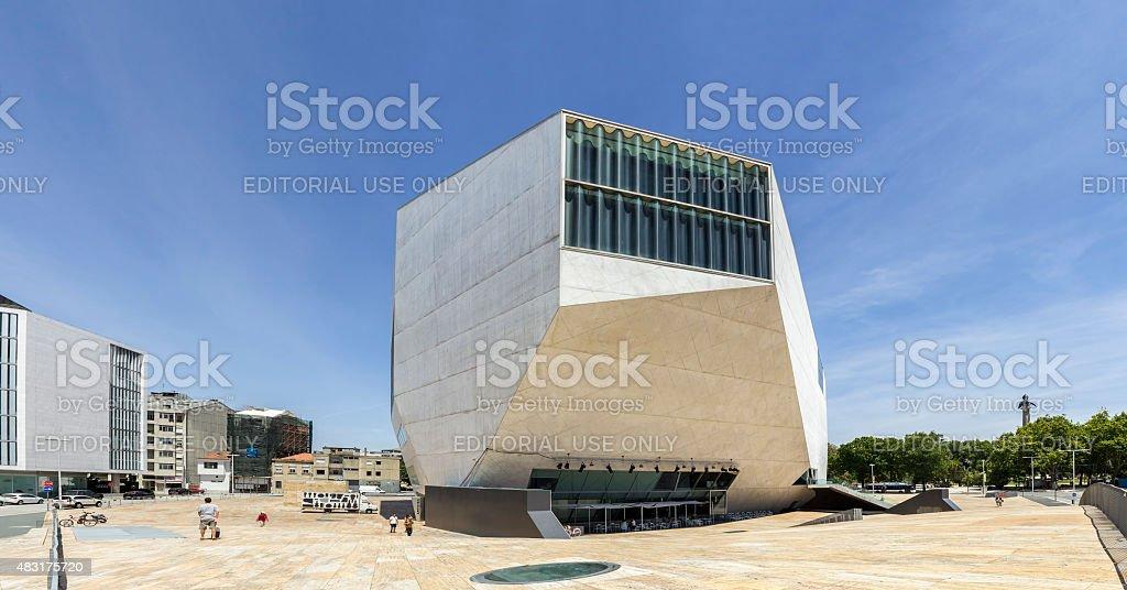 PORTO, PORTUGAL - JULY 05, 2015: Casa da Musica Panoramic stock photo