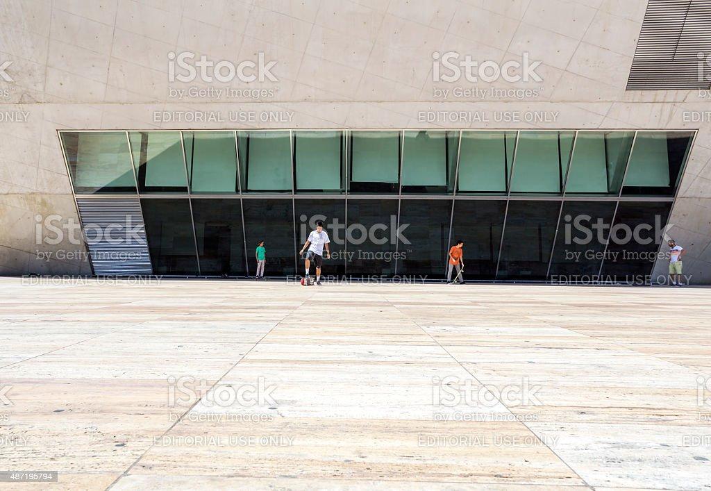 PORTO, PORTUGAL - JULY 05, 2015: Casa da Musica Venue stock photo