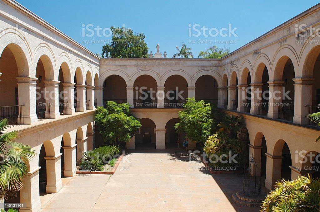 Casa De Balboa inner yard royalty-free stock photo