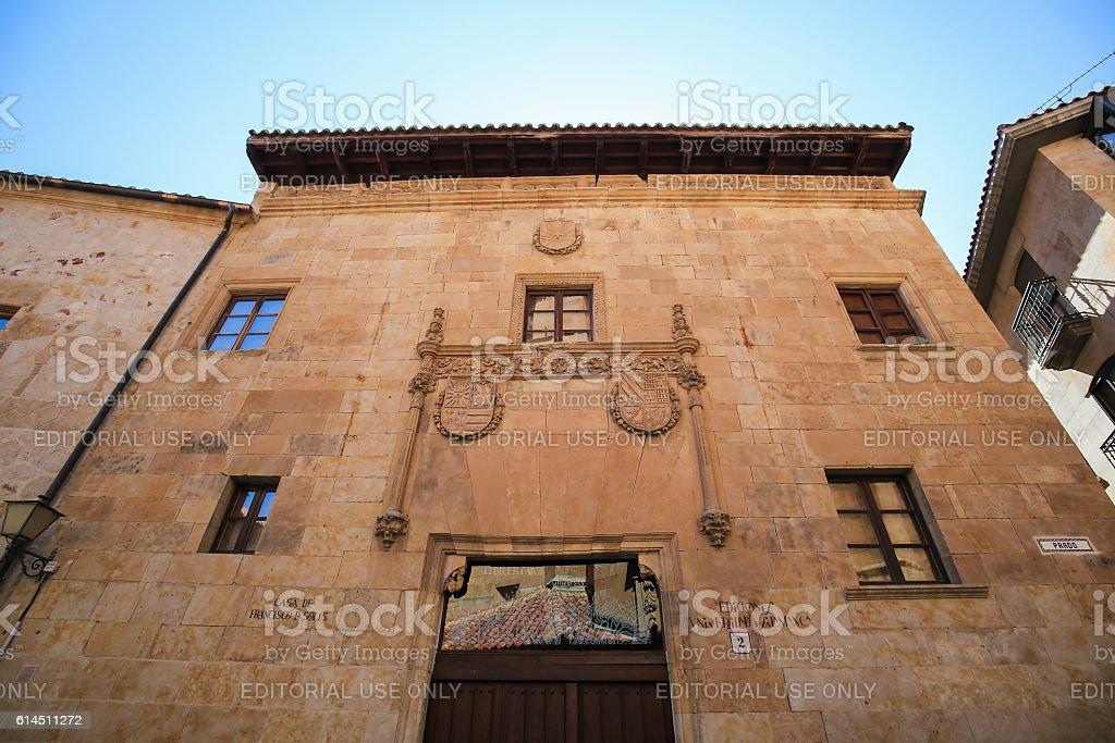 Casa de Francisco de Solis in Salamanca, Spain stock photo