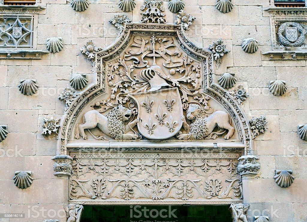 Casa de las Conchas in Salamanca, Spain stock photo