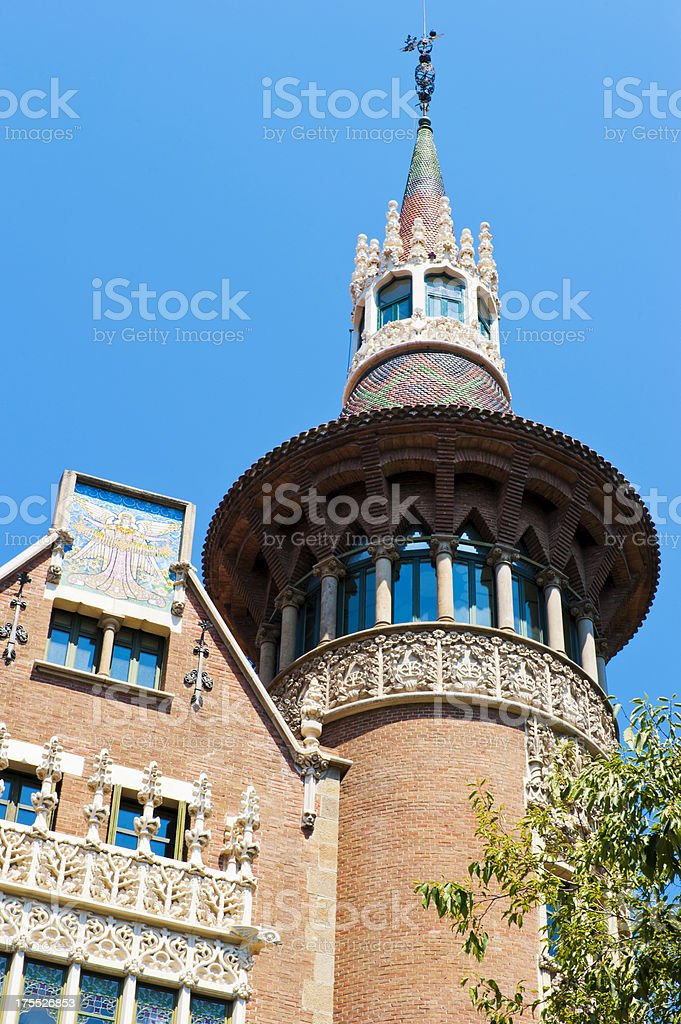 Casa de les Punxes, Barcelona royalty-free stock photo