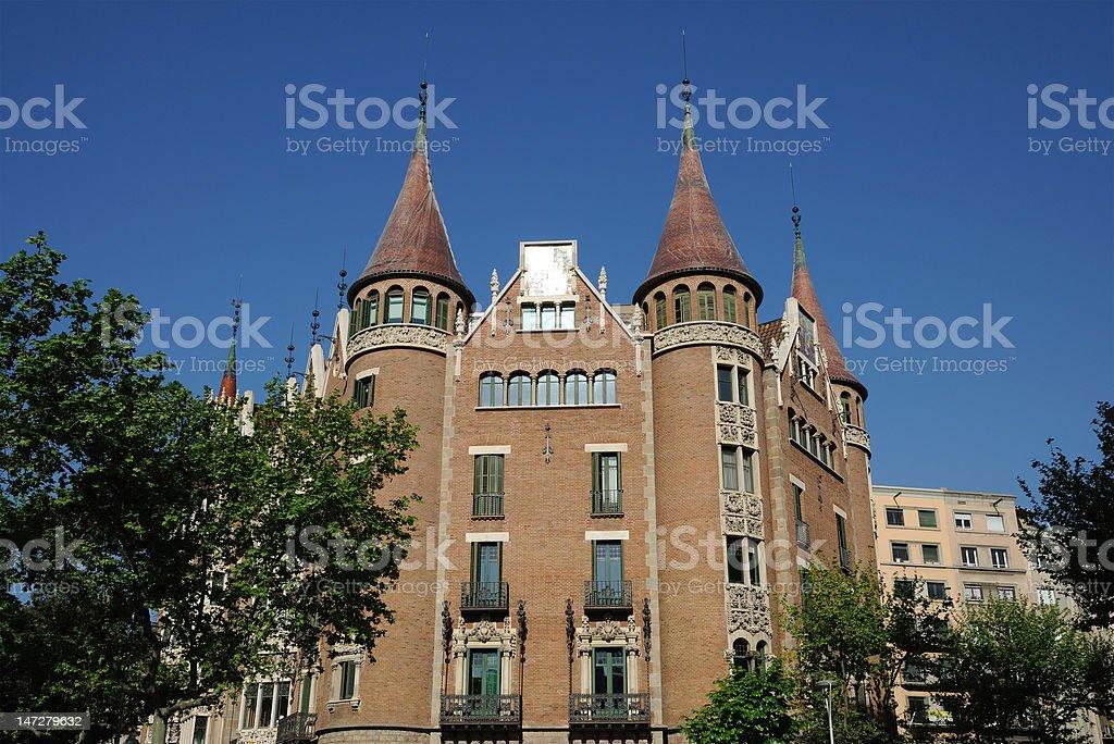 Casa de les Punxes in Barcelona royalty-free stock photo