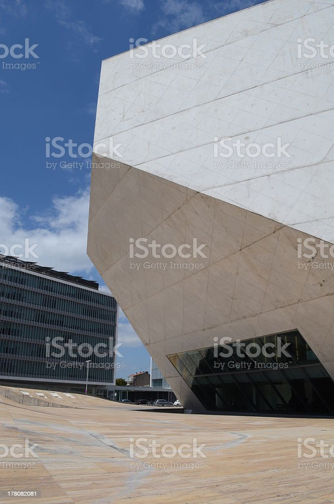 Casa de Musica in Porto, Portugal royalty-free stock photo