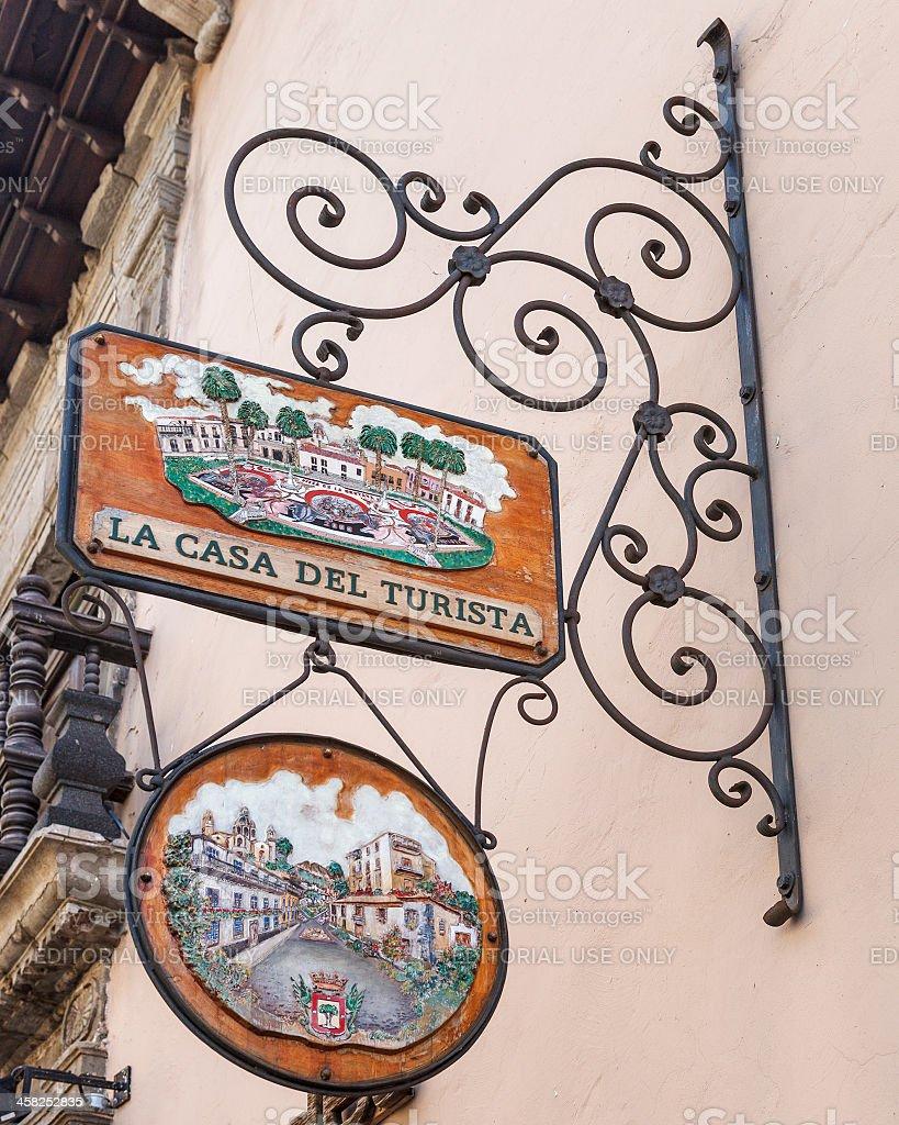 Casa del Turista, La Orotava, Tenerife stock photo