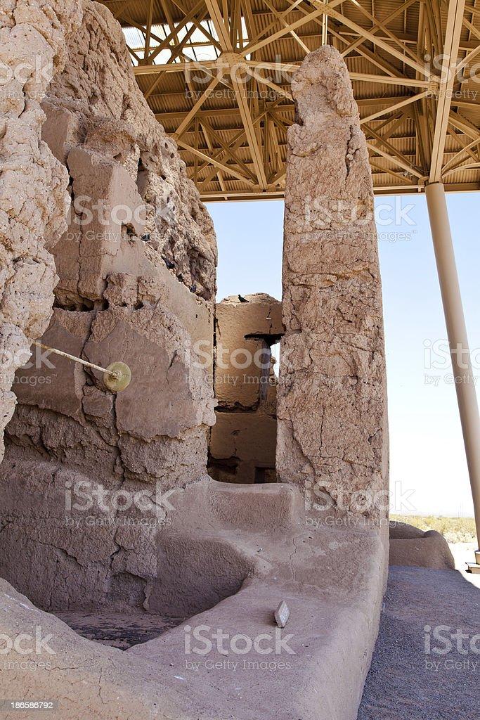 Casa Grande ruin stock photo