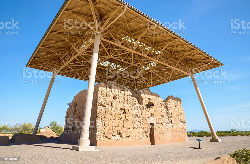 Casa Grande Ruins National Monument stock photo
