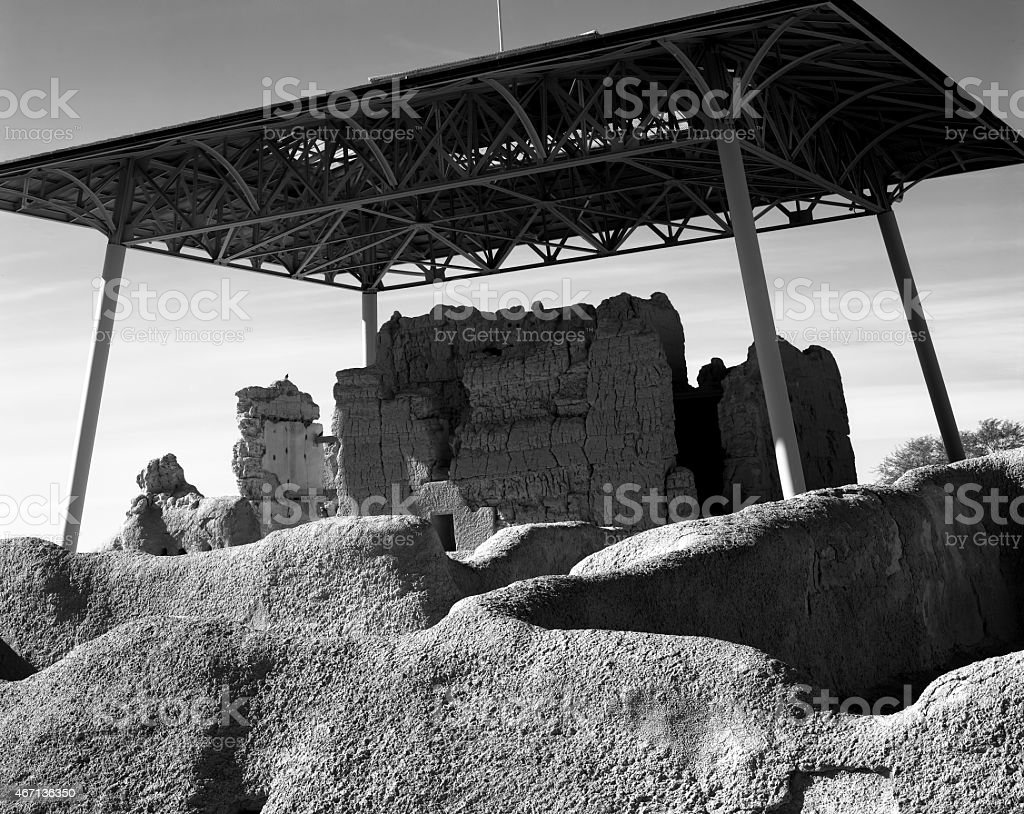 Casa Grande Ruins stock photo