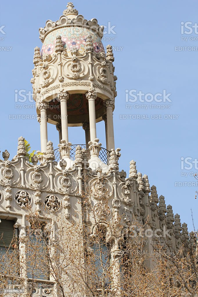 Casa Lleo Morera at Passeig de Gracia in Barcelona stock photo