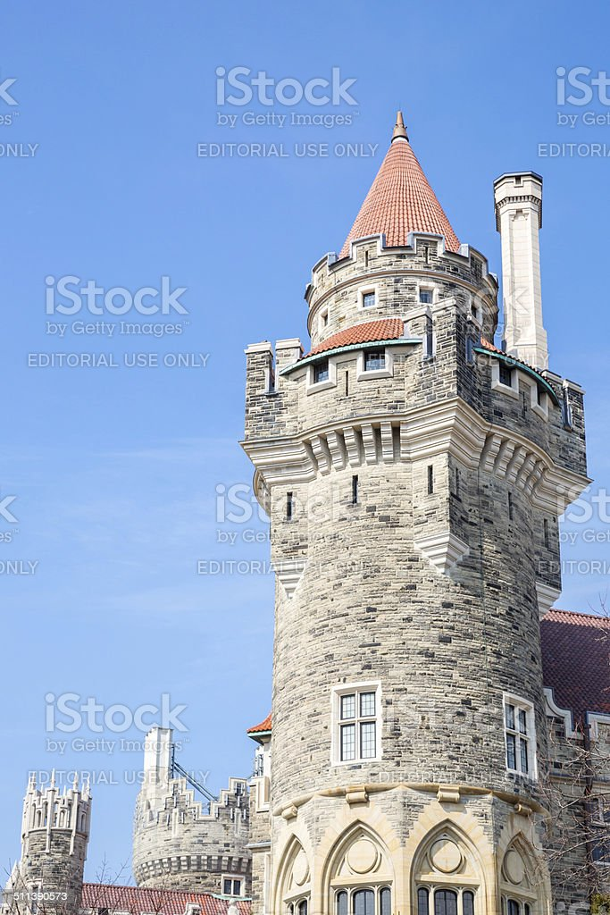 Casa Loma Tower Toronto stock photo