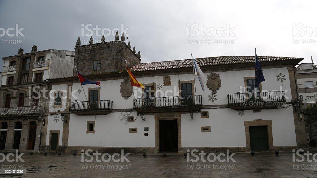 Casa Lorenzo, Ayuntamiento de Baiona, Pontevedra stock photo