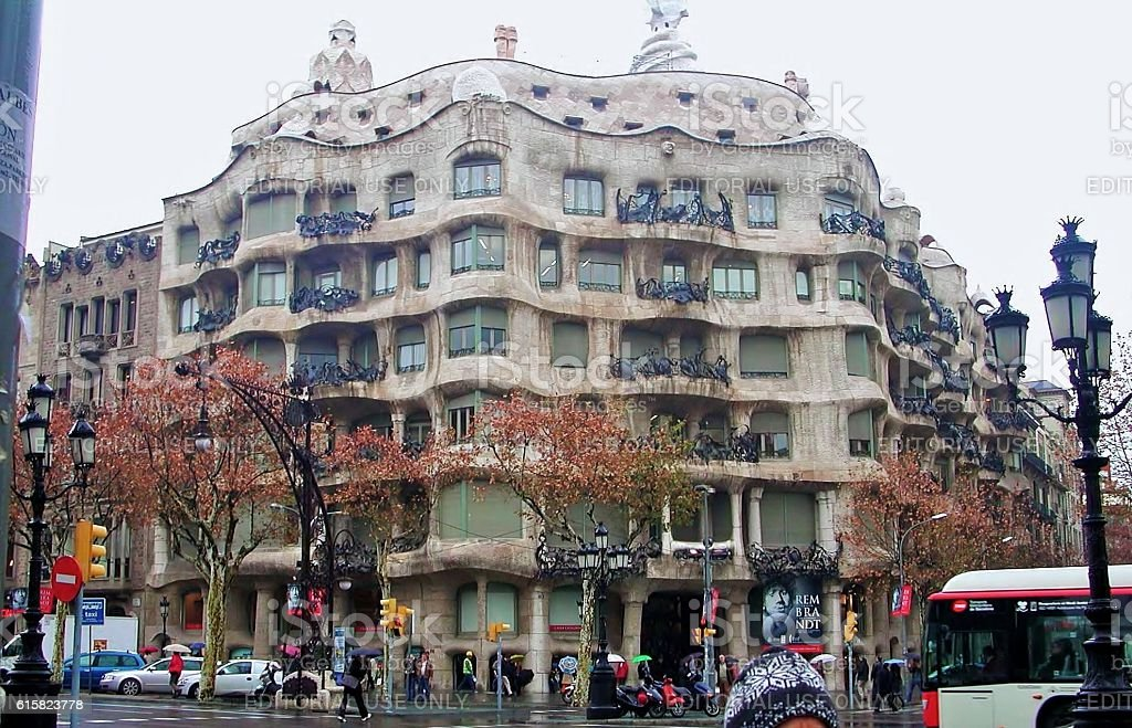 Casa Milà stock photo