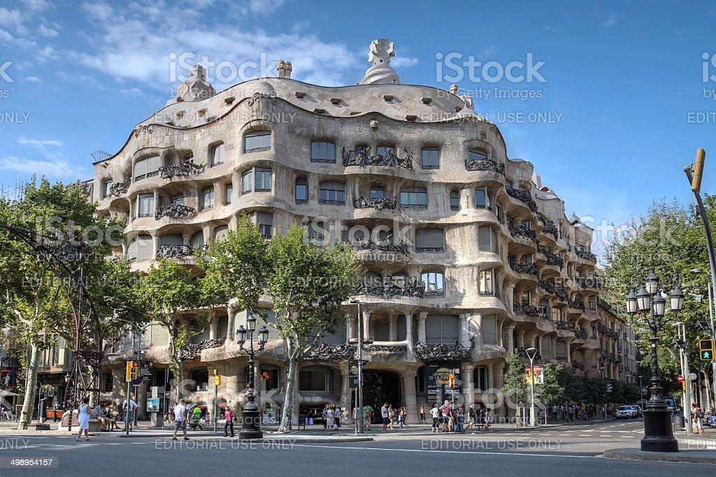 Casa Mila, Barcelona, Spain stock photo