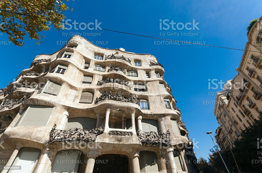 Casa Mila, Barcelona, Spain. stock photo