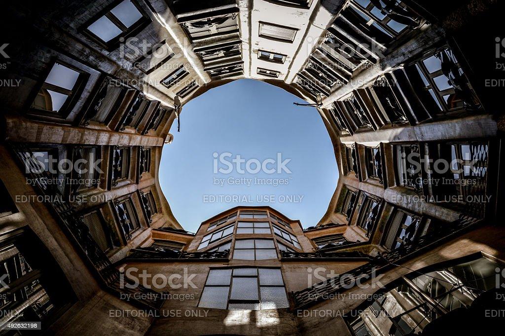 Casa Mila in Barcelona, Spain stock photo